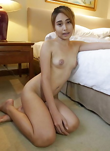 sex pics Young Thai girl Cream shows her meaty, close up , nipples