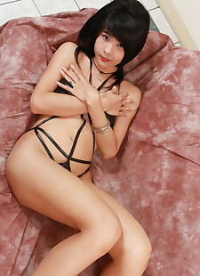 sex pics Shy short-haired tranny Jenny stroking, Naughty Asians
