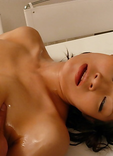 japanese sex pics Busty Japanese Rio Sasaki oils up on, Naughty Asians