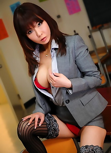 japanese sex pics Japanese secretary shows side boobage, big tits , panties