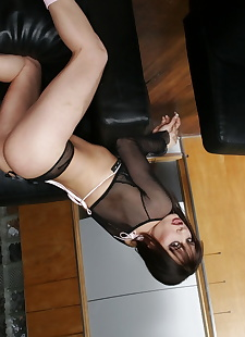 sex pics Sultry brunette in sheer lingerie, blonde , hardcore