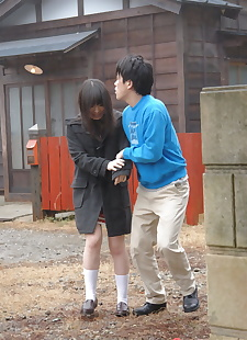 japanese sex pics Japanese girl Mai Shimizu holds her, cumshot , blowjob  outdoor