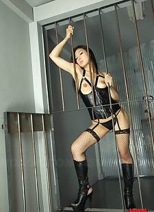 sex pics Caged hot Asian Chihiro Asai in, spreading , hairy  boots