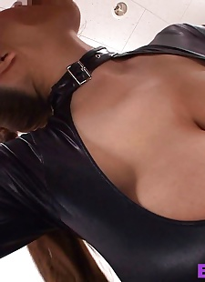 sex pics Busty asuan fucked in black leather -, Hitomi Tanaka , big tits , hardcore
