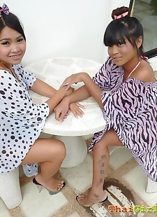 sex pics Two natural big breasted thai girls, skinny , petite