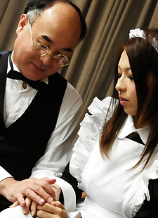 japanese sex pics Japanese maid Himeki Kaede receives, close up , nipples  cum-in-mouth