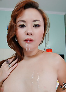 sex pics Petite Asian girl Kita Zen spills cum, shorts , close up  ass-fucking